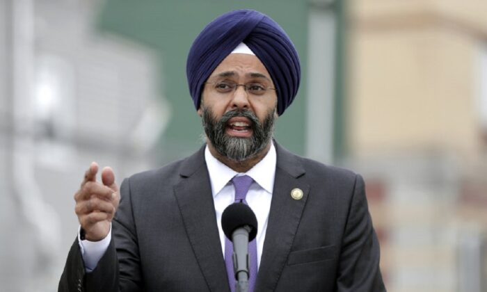 New Jersey Attorney General Gurbir Grewal speaks during a news conference in Newark, N.J., in a 2018 file photograph. (Julio Cortez/AP Photo)