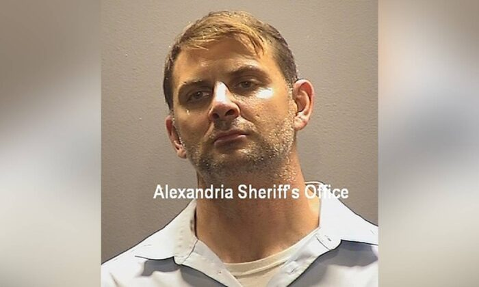 Peter Debbins, a former Army Green Beret, in a booking photo when he  was arrested on Aug. 21, 2020, for allegedly conspiring with Russian intelligence operatives to provide them with United States national defense information. (Alexandria Sheriff's Office via AP)
