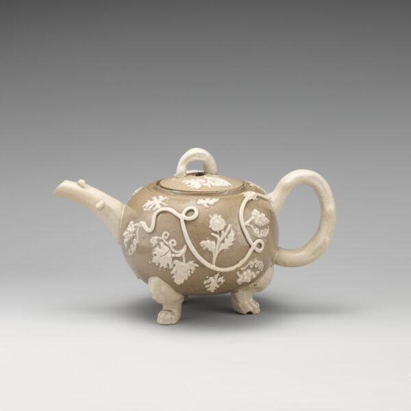British, Staffordshire. Teapot, ca. 1740