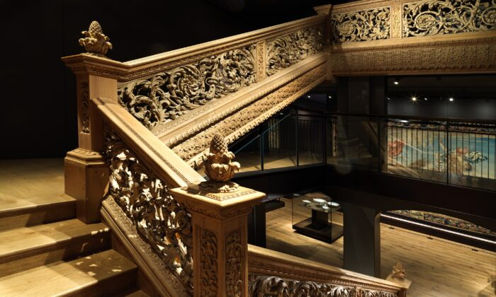The ornate Cassiobury staircase is part of the new permanent collection of The Metropolitan Museum of Art. (Joseph Coscia)