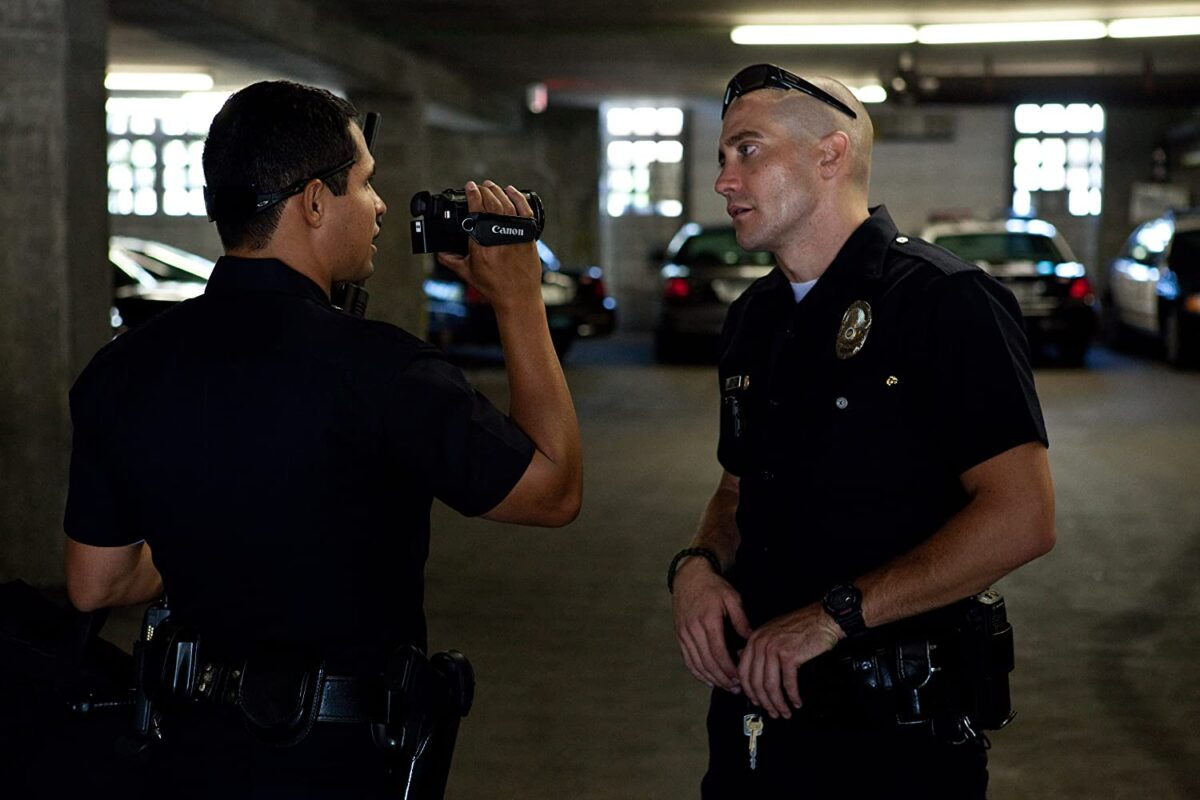 "two cops with a video camera in ""End of Watch"""
