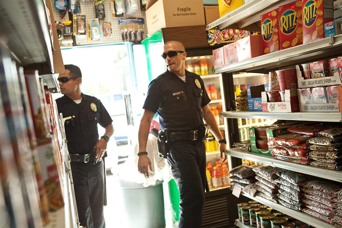 "two cops in a bodega in ""End of Watch"""
