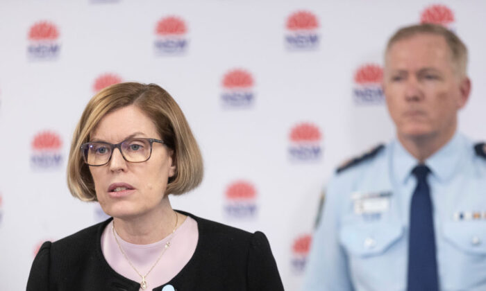 NSW Chief Health officer Kerry Chant at a press conference in Homebush in Sydney, Australia on Aug. 17, 2020. (Brook Mitchell/Getty Images)