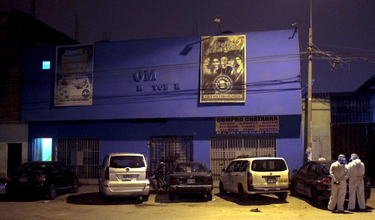 Police at Peru disco
