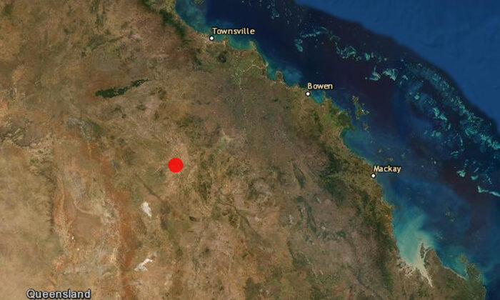 Earthquake hits Queensland outback on Aug. 23 2020. (Geoscience Australia [CC BY 4.0])