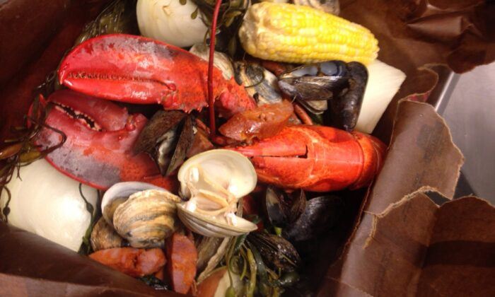 Steam your clambake in a brown paper bag in the oven, as chef Rich Vellante does, then simply tear open the bag to serve. (Courtesy of Rich Vellante)
