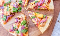 Barbecue Chicken Pizza, Hot Off the Grill