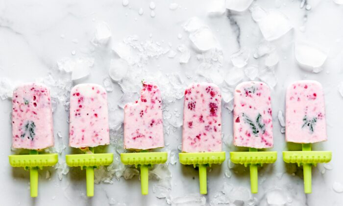 Homemade raspberry and mint popsicles, one of many summer experiments. (Matt Genders Photography)