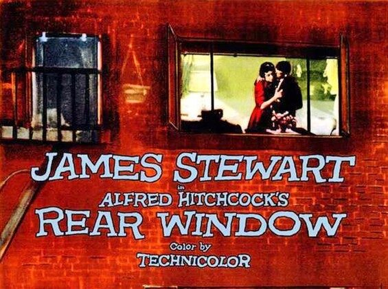 "Detail from the poster for ""Rear Window."" (Public Domain)"