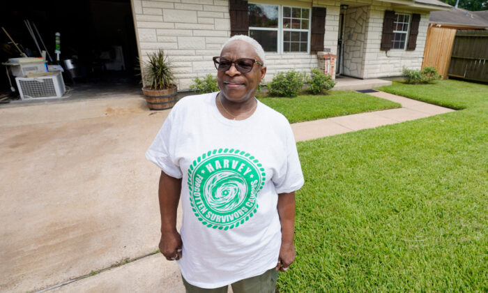 Doris Brown poses outside her home in Houston, Texas on July 31, 2020. (David J. Phillip/AP Photo)