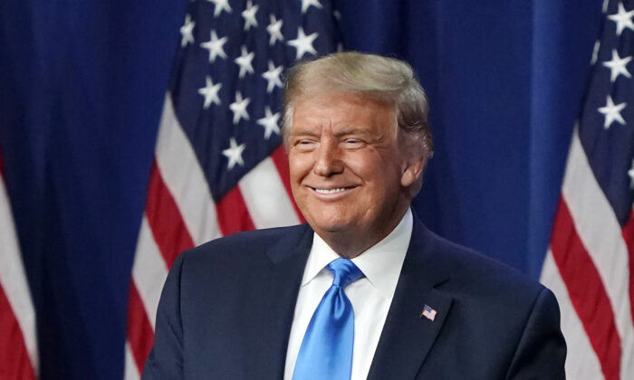 President Donald Trump speaks on the first day of the Republican National Convention at the Charlotte Convention Center on August 24, 2020 in Charlotte, North Carolina. (Chris Carlson-Pool/Getty Images)