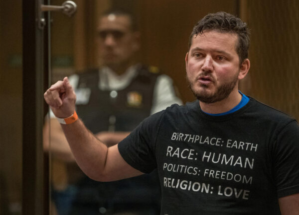 Kyron Gosse gives a victim impact statement.