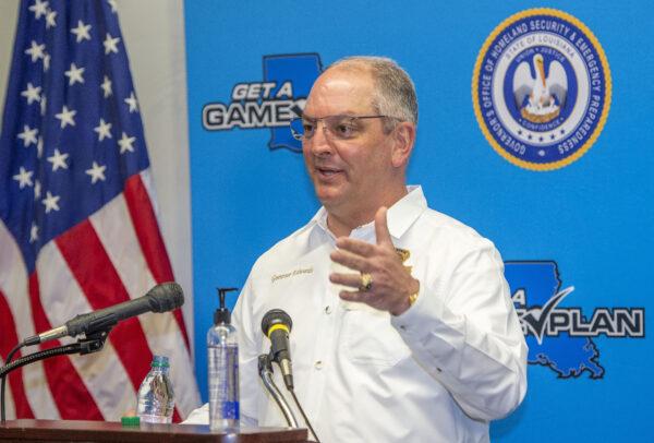 Louisiana Gov. John Bel Edwards answers questions