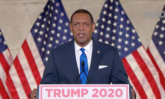 In this screenshot from the RNC's livestream of the 2020 Republican National Convention, U.S. Rep. Vernon Jones (D-GA) addresses the virtual convention on Aug. 24, 2020. (Courtesy of the Committee on Arrangements for the 2020 Republican National Committee via Getty Images)