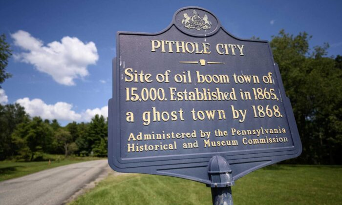 Pithole City was once a booming oil town after the discovery of oil and the site of the first commercial oil well in the united states just six miles away. In just five years, the town was reduced to just a couple hundred people. (Justin Merriman)