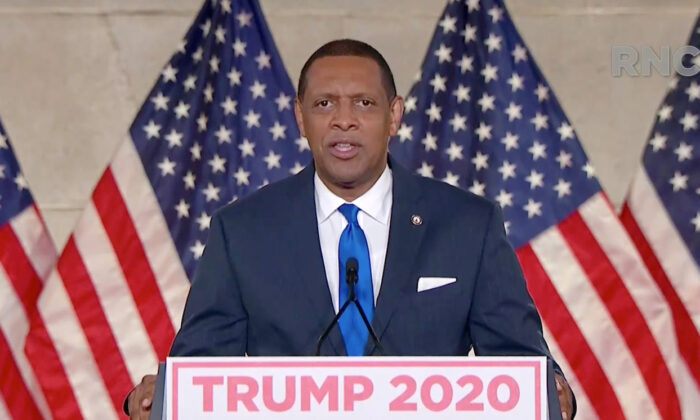 Georgia Democratic Rep. Vernon Jones addresses the virtual Republican National Convention on Aug. 24, 2020.  (Courtesy of the Committee on Arrangements for the 2020 Republican National Committee via Getty Images)