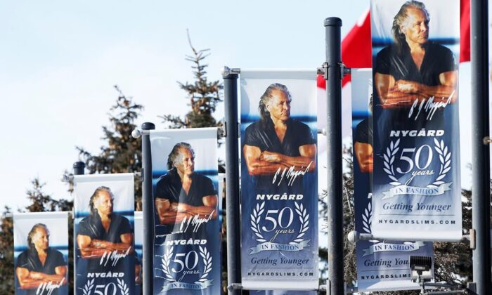 The Nygard headquarters in Winnipeg, Feb. 26, 2020. A class-action lawsuit alleging a Canadian fashion mogul sexually assaulted dozens of women has been put on pause. (John Woods/The Canadian Press)