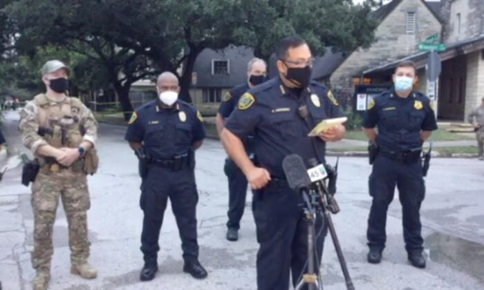 Houston police detail fatal shooting of suspect who opened fire on civilians and officers.