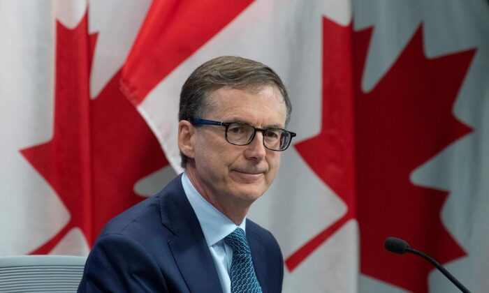 Bank of Canada Governor Tiff Macklem is seen during a news conference, on July 15, 2020 in Ottawa. (The Canadian Press/Adrian Wyld)