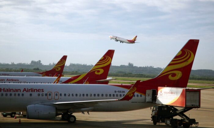 China's Hainan Airlines at Haikou airport in south China's Hainan Srovince on June 12, 2014. (AFP via Getty Images)