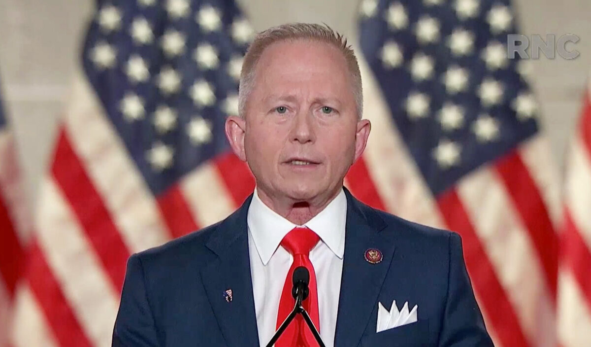U.S. Rep. Jeff Van Drew addresses the virtual convention