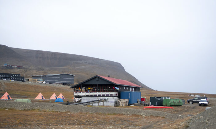 The Longyearbyen camp site after a polar bear attacked the site and killed a man in Norway's remote Svalbard Islands in the Arctic, on Aug. 28, 2020. (Line Nagell Ylvisaker / NTB scanpix via AP Photo)