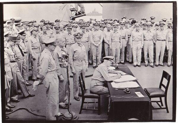 Admiral Nimitz signed surrender doc