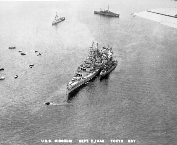 USS Missouri, taken during surrender