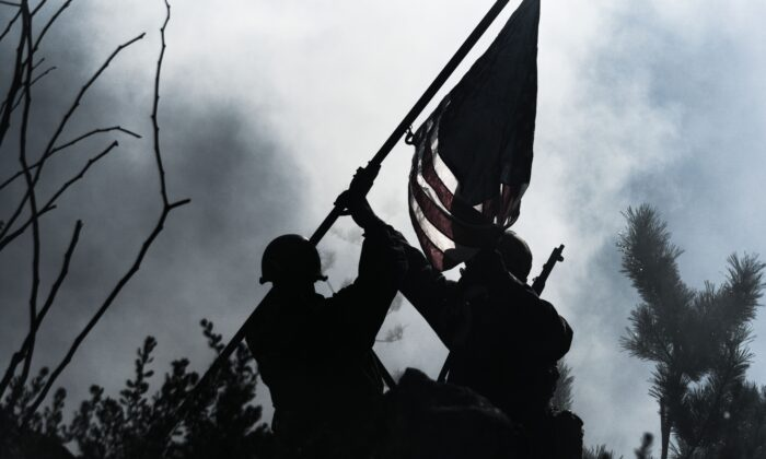 A scene from a live-action reenactment of World War II, part of the Living History Program of the National Museum of the Pacific War, in Fredricksburg, Texas. (National Museum of the Pacific War)