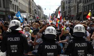 Berlin Police Disband Protest Against Coronavirus Curbs