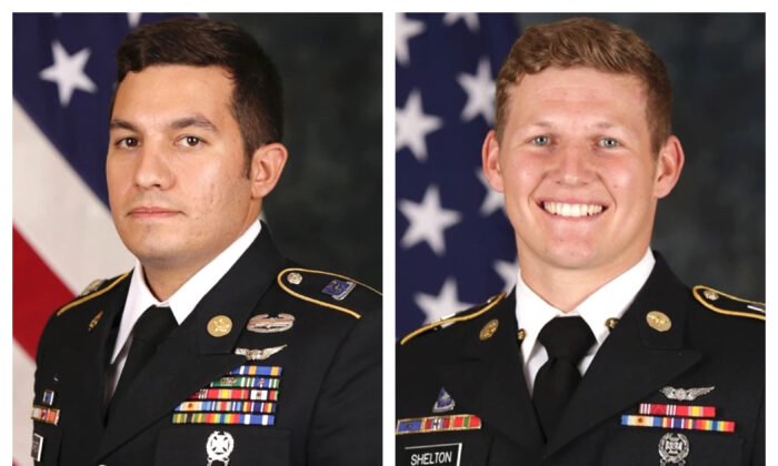 Staff Sgt. Vincent P. Marketta (L) and Sgt. Tyler M. Shelton (R) in a file photo. (US Army Special Operations Command via AP)