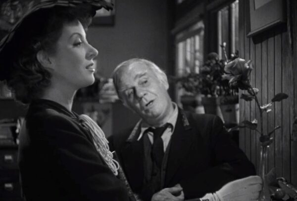 Greer Garson and Henry Travers in Mrs. Miniver