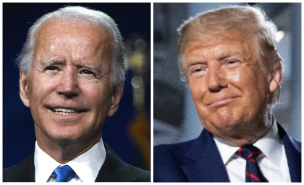 Biden and Trump at conventions
