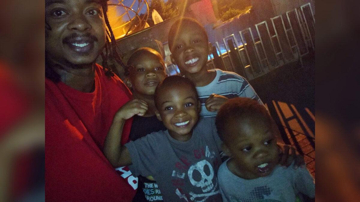 Jacob Blake with his sons