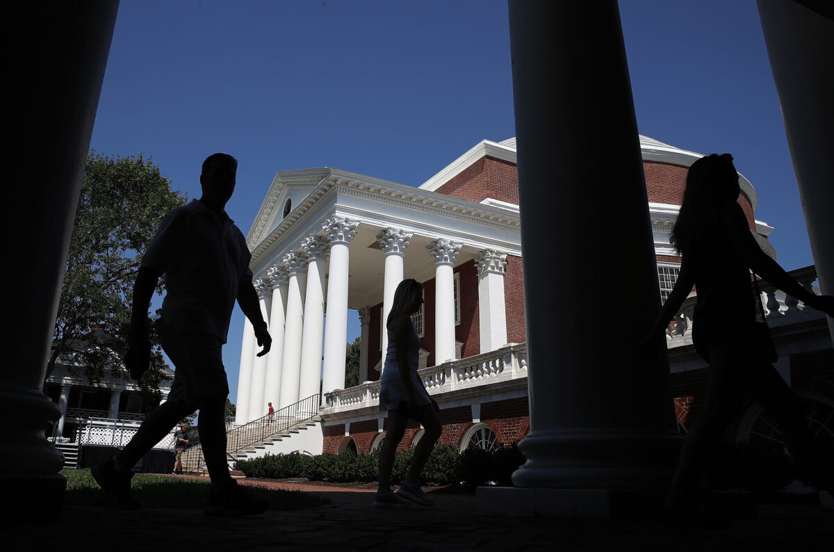 University Of Virginia Students In Charlottesville Back On Campus For Start Of New School Year