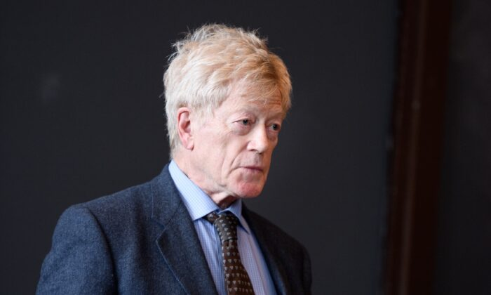 Sir Roger Scruton, writer and philosopher, at Princeton University on April 3, 2017. He believed that beauty matters. (Sameer A. Khan)
