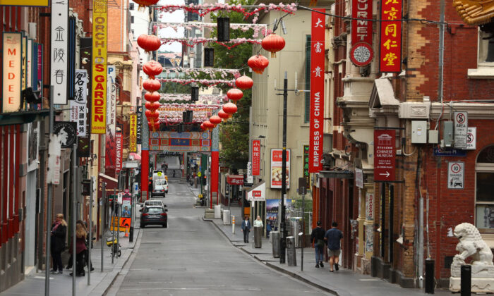 China Town in Little Bourke Street is seen on March 22, 2020 in Melbourne, Australia. (Robert Cianflone/Getty Images)