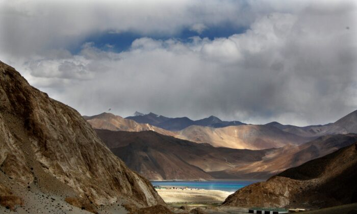 Pangong Tso lake is seen near the India-China border in India's Ladakh area, on Sept. 14, 2017. Indian Defense Minister, Rajnath Singh said on Feb. 11, 2021 that India and China will disengage from a ten-month-old military standoff at the Pangong Tso. (Manish Swarup/AP Photo)