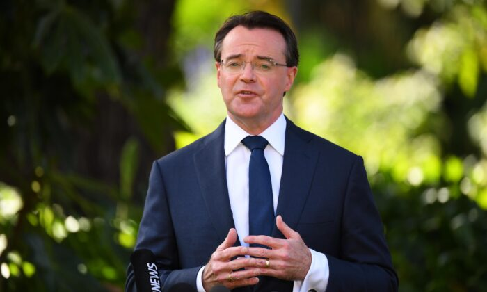 Victorian Opposition Leader Michael O'Brien addresses the media during a press conference at Parliament House in Melbourne, August 24, 2020. Senior federal government MPs have been linked to branch-stacking allegations within the Victorian Liberal party. (AAP Image/James Ross) NO ARCHIVING