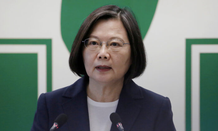 Taiwanese President Tsai Ing-wen speaks to the media in Taipei, Taiwan on Aug. 12, 2020. (Ann Wang/File Photo via Reuters)