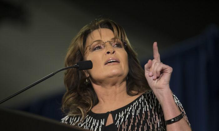 Former Alaska Gov. Sarah Palin speaks at Iowa State Univesrity in Ames, Iowa, on Jan. 19, 2016. (Aaron P. Bernstein/Getty Images)