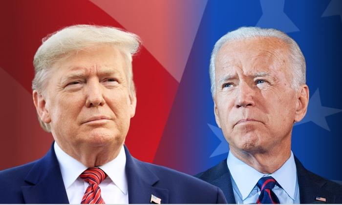 President Donald Trump (Mark Makela/Getty Images); and Democratic presidential nominee Joe Biden. (William Thomas Cain/Getty Images)