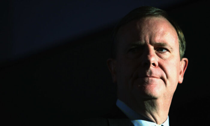 Then Australian Federal treasurer Peter Costello attends the Liberal Party of Australia's Federal Council June 1, 2007 in Sydney, Australia. (Ian Waldie/Getty Images)