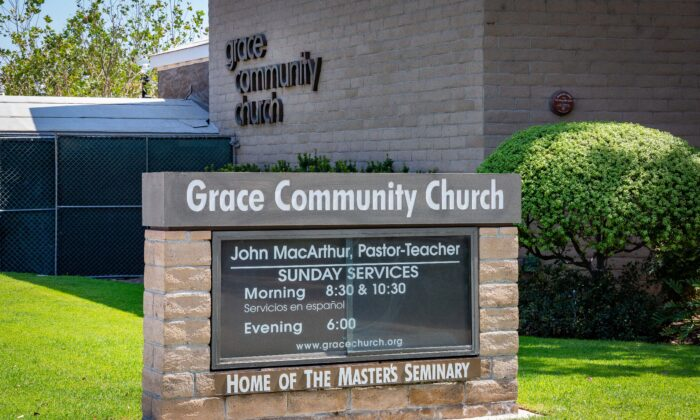 Grace Community Church, Sun Valley, Calif. on Sept. 2, 2020. (John Fredricks/The Epoch Times)
