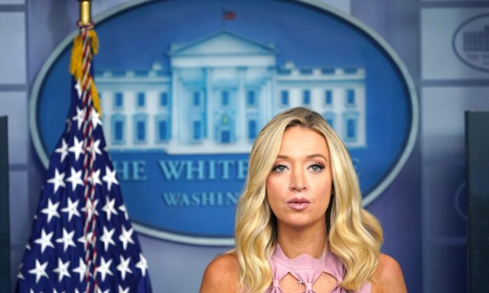 White House Press Secretary Kayleigh McEnany speaks at the White House in Washington, on Aug. 31, 2020. (Mandel Ngan/AFP via Getty Images)