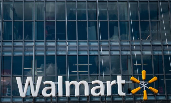 The Walmart logo is seen outside a store in Washington, on July 15, 2020. (Andrew Caballero-Reynolds/AFP via Getty Images)