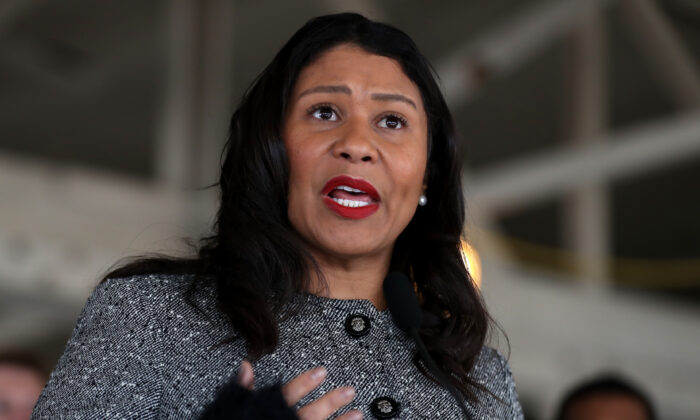 San Francisco Mayor London Breed speaks during a news conference in San Francisco on Jan. 15, 2020. (Justin Sullivan/Getty Images)