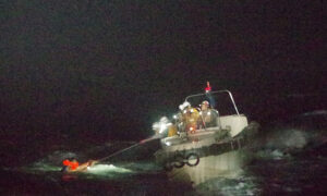 Two Aussies on Capsized Ship After Typhoon