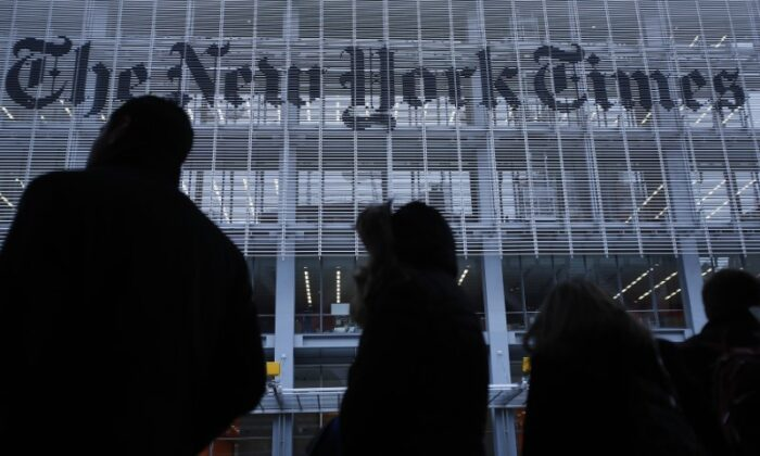 The New York Times building in New York City, N.Y., on Feb. 7, 2013. (Carlo Allegri/Reuters)