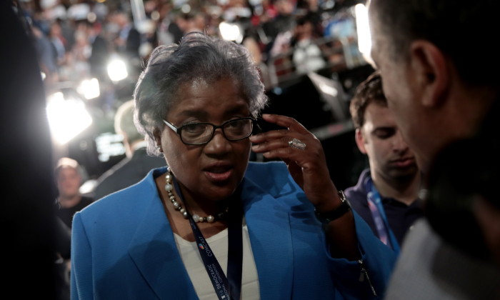 Donna Brazile attends the first day of the Democratic National Convention at the Wells Fargo Center, July 25, 2016 in Philadelphia, Pennsylvania. (Drew Angerer/Getty Images)